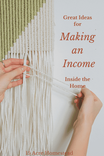 Do you spend a lot of time inside your home? Try some of the suggestions here for making money inside the home.