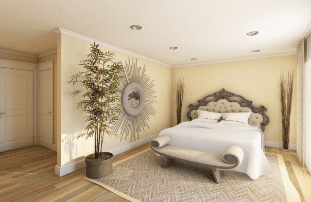Nuetral Bedroom which appeals to the guest in a money-making guest room.