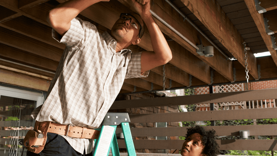 Making home repairs