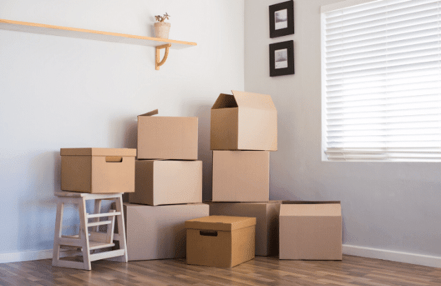 Boxes packed early to have a stress-free move