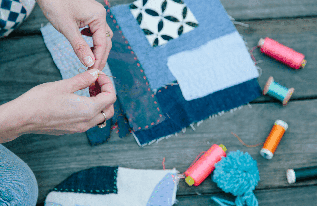 Quilting is a way of making money inside the home.