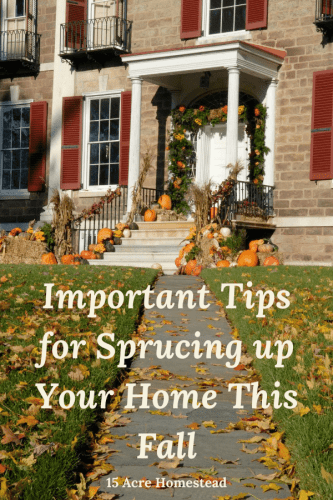 Use these tips to start sprucing up your home before winter approaches.