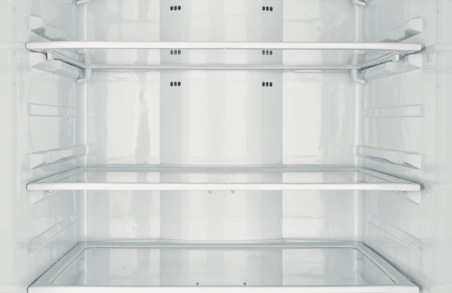 empty freezer