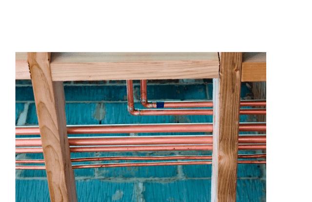 New plumbing installed under the floor
