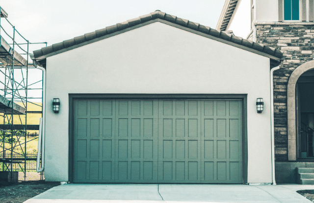 Newly painted garage