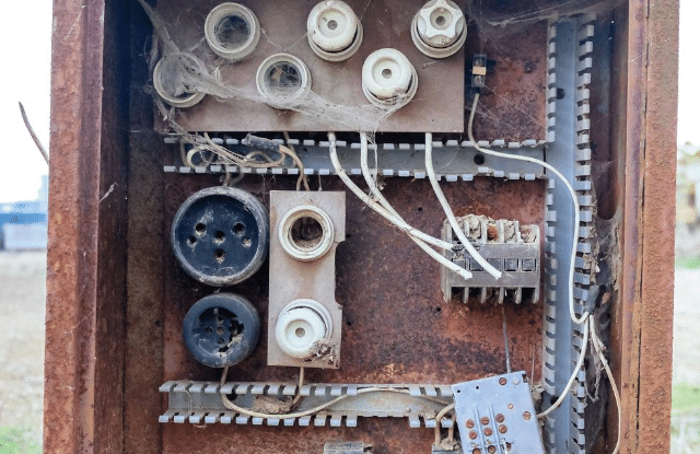An old fuse box