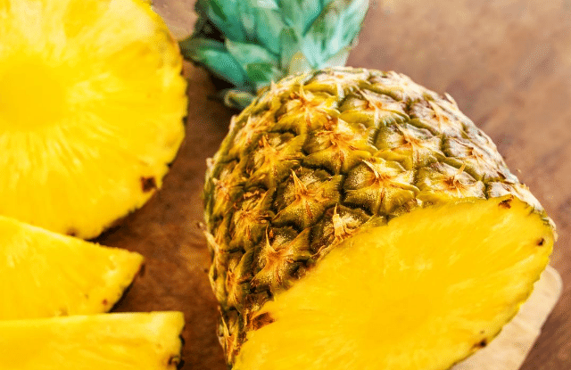 A fully ripened pineapple