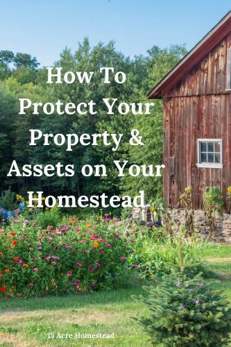 Sustainability is important to the homestead, but learning how to protect your property and assets is something every homesteader should make sure they accomplish.