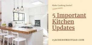 Important Kitchen Updates