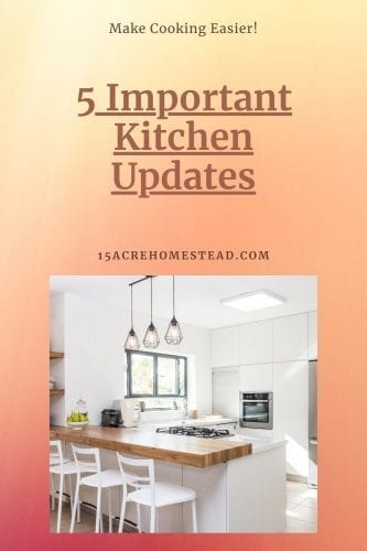These 5 important kitchen updates can turn your kitchen from blah to functional allowing you to utilize every bit of space and create a kitchen you love.