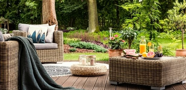 Patio in the garden
