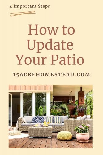 Updating your patio is not difficult. There are so many ways you can create and warm and inviting space for your family and to entertain.