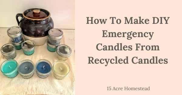 DIY Emergency Candles