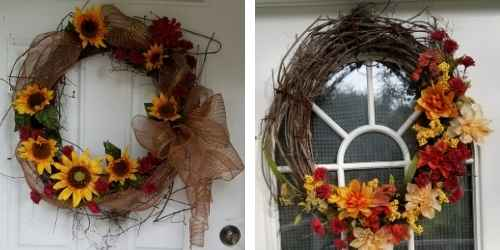 Wreaths I made from the vines in our woods