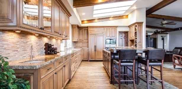 Hardwood floors in a kitchen