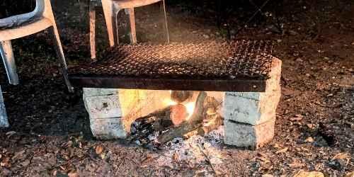 Open fire grate