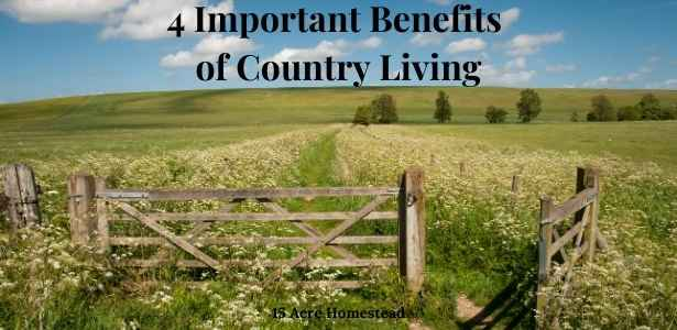benefits of country living