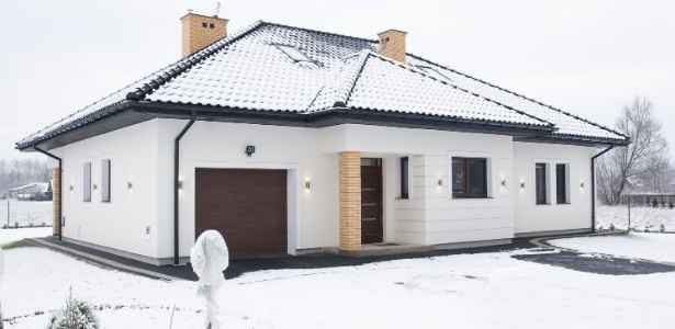 House roof in winter