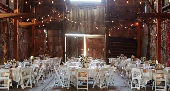 barn ready for an event