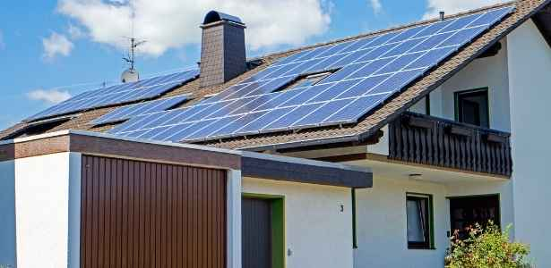 House powered with solar