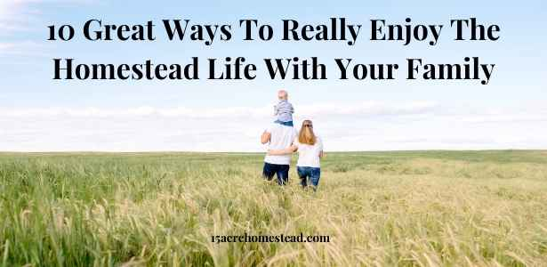 enjoy the homestead life featured image