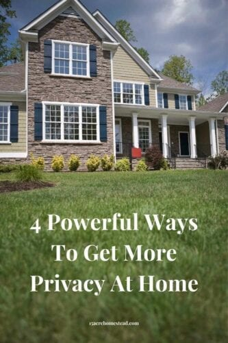 If you are looking for ways to get more privacy for you and your family at home, take a look at these simple tips to achieve it.
