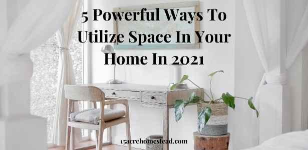 utilize space