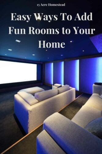 Try creating some of these fun rooms in your home today and spend more quality time with your family too.