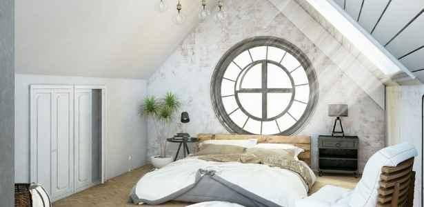 A loft bedroom