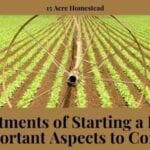investments of starting a farm