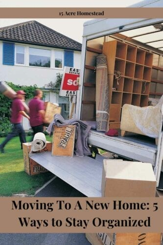 Use these 5 tips to stay organized and eliminate stress when moving to a new home.