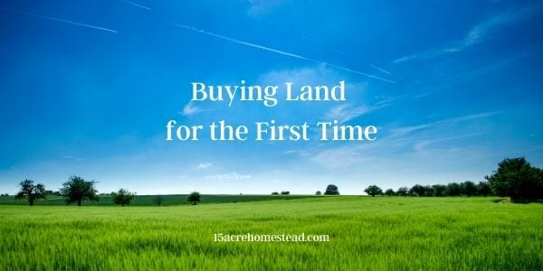 buying land for the first tme