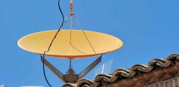 satellite dish on house