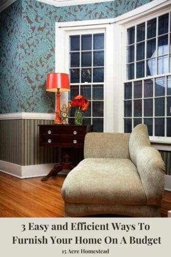 Try these 3 simple tips to furnish your home on a budget easily and efficiently.