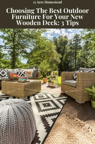 When you have had your deck built, you will need to add some outdoor furniture to enhance the new area of your home and give you somewhere to entertain.