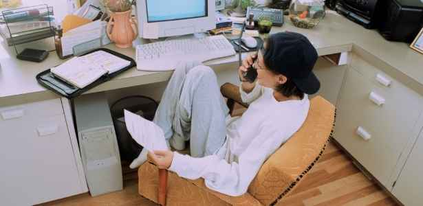 home office with comfortable chair
