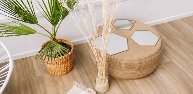 natural home decor being used