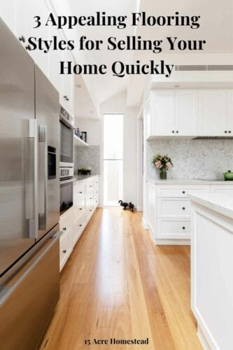 When looking to change flooring styles in your home, make sure it fits with the overall theme of the property.