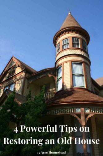 These are the four most important points when it comes to restoring an old house or a worn-out building. You want to ensure excellent quality work and even better materials.