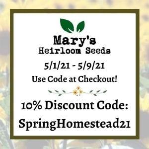 Marys Discount code info