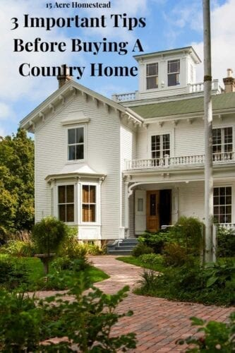 Living in a country home will be different from living in a busy city house, and there are a few key things to check before you buy your country home. These things are very important, so you shouldn't gloss over them when searching for the dream homestead.