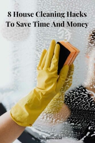 These 8 house cleaning hacks can save you money and time when cleaning your home!