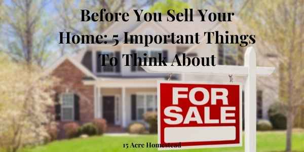 before you sell your home featured image
