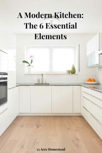 Modern kitchens don't happen automatically. For them to work, you have to incorporate certain essential elements into their design.