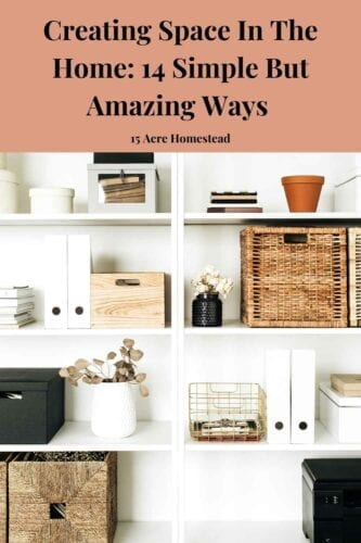 Here are 14 simple ways for creating space so you can make your home feel more spacious without throwing everything away or reaching too far into your pockets.