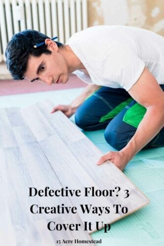 We have come up with some creative ways to cover a defective floor. Additionally, the methods can also complement the decor of your home