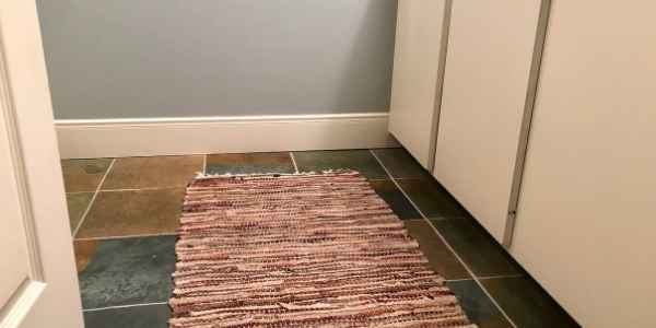 rug over a defective floor