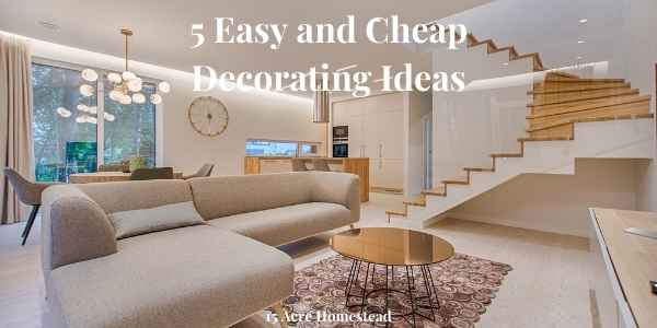 easy and cheap decorating ideas featured image