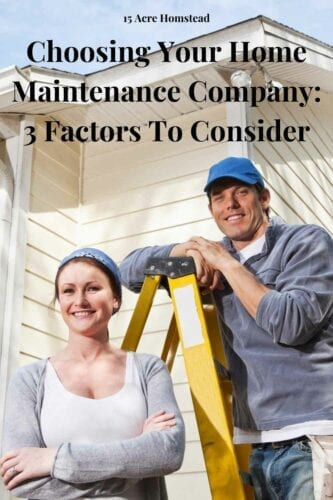 Choosing your home maintenance company that will affect the value and condition of your house is a crucial step to take.
