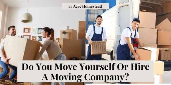 move yourself or hire a moving company